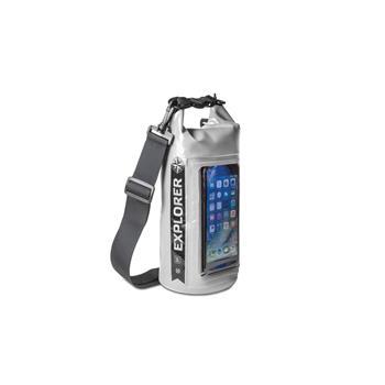 """Voděodolný vak CELLY Explorer 2L s kapsou na telefon do 6,2"""", šedý"""