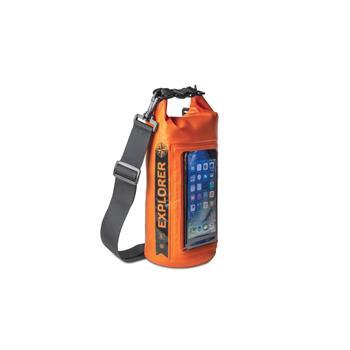 """Voděodolný vak CELLY Explorer 2L s kapsou na telefon do 6,2"""", oranžový"""