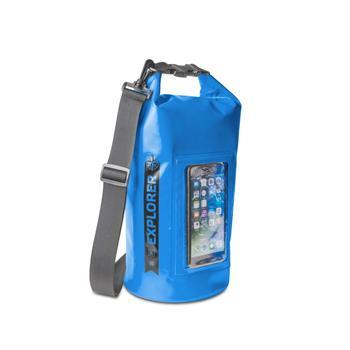 """Voděodolný vak CELLY Explorer 5L s kapsou na telefon do 6,2"""", modrý"""