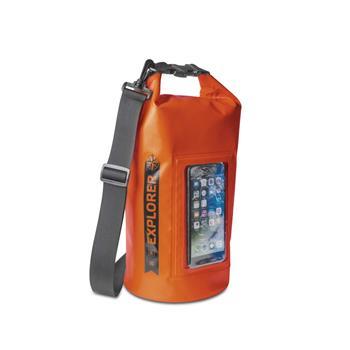 """Voděodolný vak CELLY Explorer 5L s kapsou na telefon do 6,2"""", oranžový"""