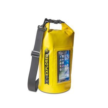 """Voděodolný vak CELLY Explorer 5L s kapsou na telefon do 6,2"""", žlutý"""