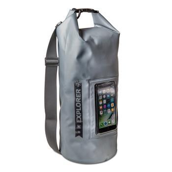 """Voděodolný vak CELLY Explorer 10L s kapsou na telefon do 6,2"""", šedý"""