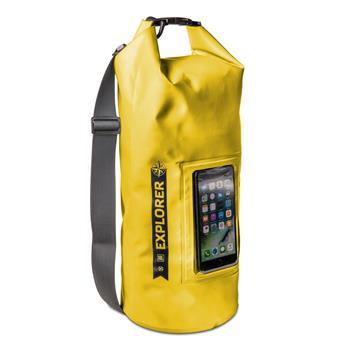 """Voděodolný vak CELLY Explorer 10L s kapsou na telefon do 6,2"""", žlutý"""