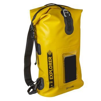 """Voděodolný batoh CELLY Explorer 20L s kapsou na mobilní telefon do 6,5"""", žlutý"""