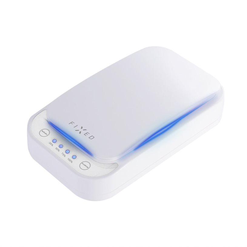 UV sterilizér FIXED pro mobilní telefony s nabíjením, bílý