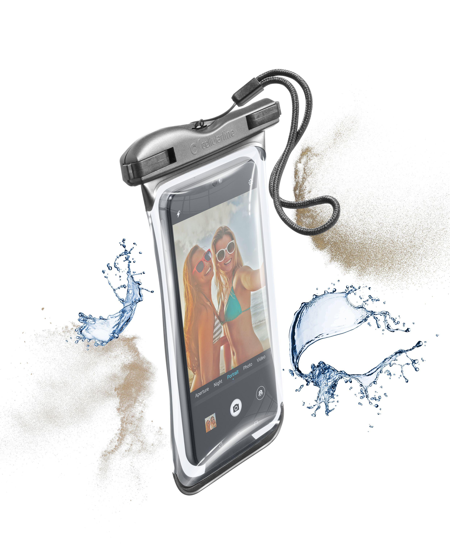 Vodotěsné univerzální pouzdro pro mobilní telefony Cellularline VOYAGER 2019, černé