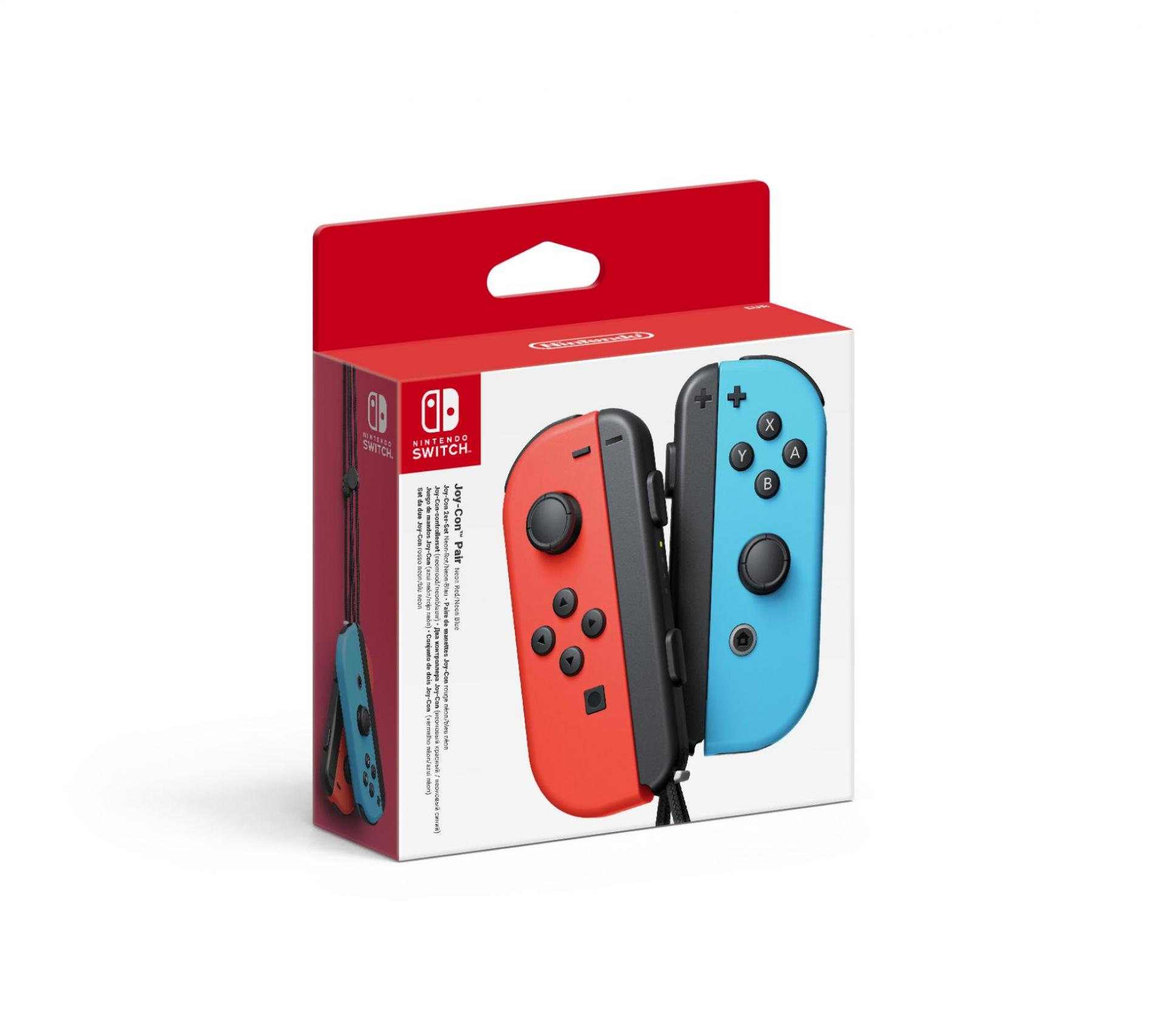 Nintendo Switch Joy-Con ovladače Red/Neon Blue
